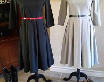 Women Modest Long sleeve dress