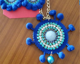 Necklace and Earrings Strass