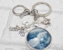 scan photo keyring. memorial keyring, pregnancy announcement. custom key chain, handbag charm. Photo keyring. Pregnancy Keepsake. Gift idea.