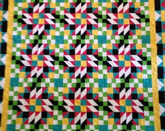 Bright multi-colored quilt
