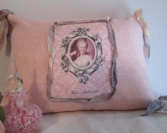 Marie Antoinette Handmade Pillow