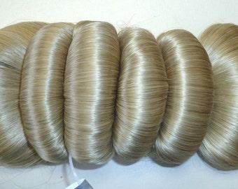 Fancy barrette decorative hair piece hair-like fiber