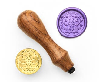 Mandalas Pattern - 55 - Design OD Wax Seal Stamp (DODWS0367)