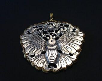 Kenneth Lane Moth Medallion Necklace