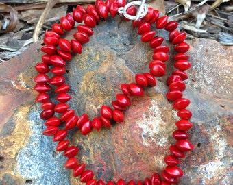 Handmade Red Sandalwood Seed Necklace