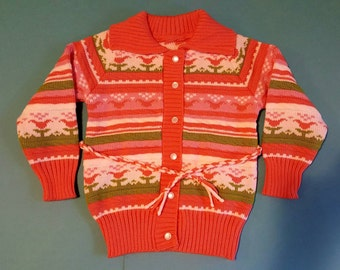Girls knit jumper 3-4 years old