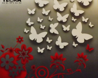Butterflies airbrushing coffee table
