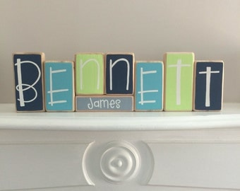Baby Name Blocks - Custom Baby Gift