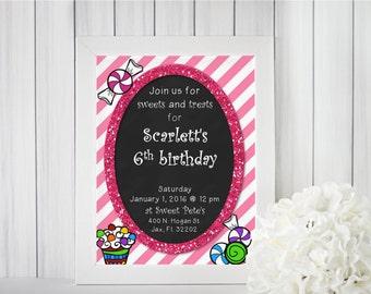 Sweet Treats Birthday Invitations