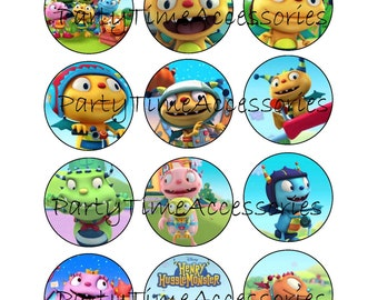 Henry Hugglemonster Edible Cupcake/Cookie Toppers for Birthday Party or other Special Occasion!