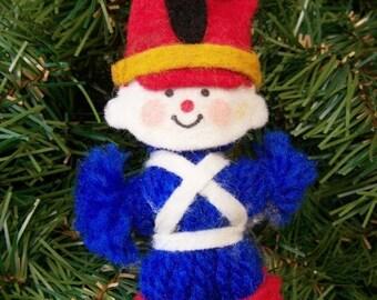 Vacation Sale Vintage Christmas Ornament – yarn toy soldier – 1970s Hallmark ornament