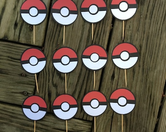 12 Pokemon Cake Toppers