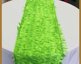 "Table Runner Leaf Taffeta 4 Pcs. 14"" X 108"" Wedding Party Decorations Lime"