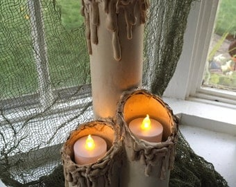 Melted old candles
