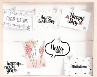 Pack of 7 Postcards 10x15 • High quality paper InsidePapers • Post Card • Event, Party, Congratulations