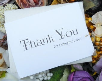 Thank You for being my USHER CARD, Wedding Thank You Card, Usher Card, Usher Gift, Usher Thank You Card, Wedding Thank You Cards