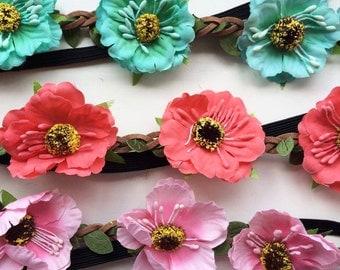Floral headband / hairband / crown.