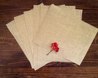 "6 Burlap Craft Sheets with Laminated Backing -burlap paper - diy wedding - 8.5"" x 11"" - 6 count - HIT151-21"
