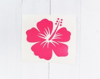 Hibiscus Flower Decal | Hibiscus Flower | Flower Vinyl Decal |coffee cup decal | car decal | iPhone decal | Yeti decal | Macbook Decal