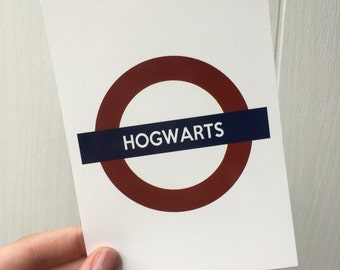 Hogwarts from Harry Potter Underground Art Print