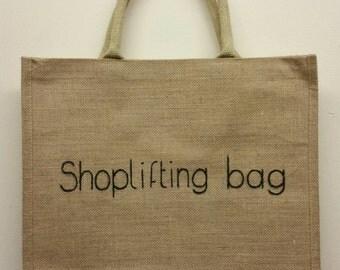 """Large """"shoplifting bag"""" Jute"""