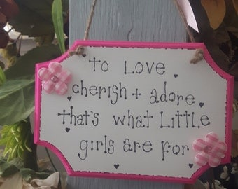"""Handmade wooden plaques """"cherish and adore"""""""