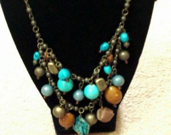 Beaded layer necklace