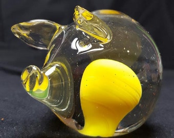 Paperweight Pig Glass