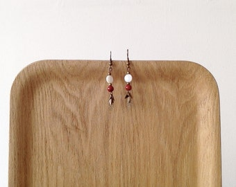Earrings sheets and Red shells