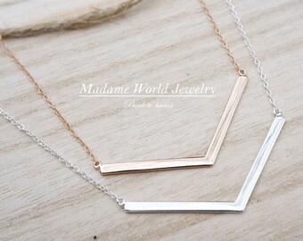 Plain Chevron Necklace