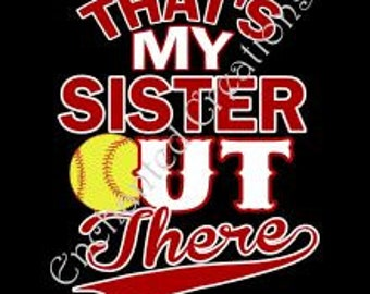 SVG file - Softball - That's My Sister