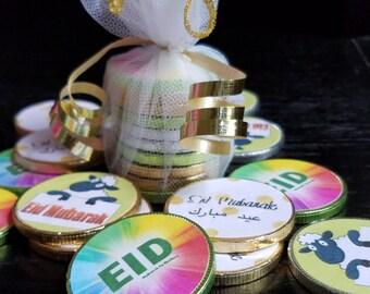 Eid Mubarak Chocolate Coins