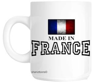 Made Born In France Birthday Gift Mug shan595