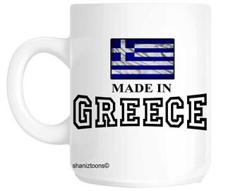 Made Born In Greece Birthday Gift Mug shan593