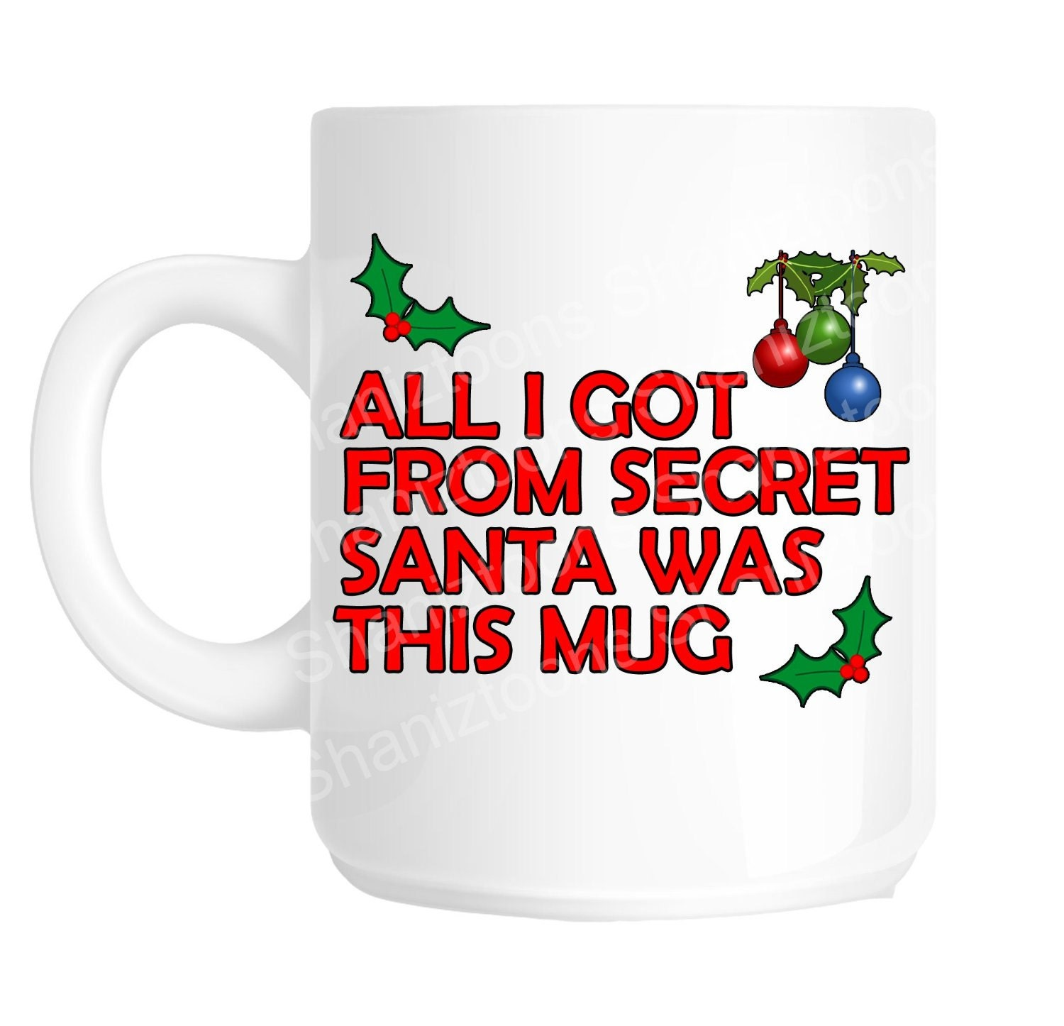 Secret santa funny office joke gift mug shan759 for Fun secret santa gifts