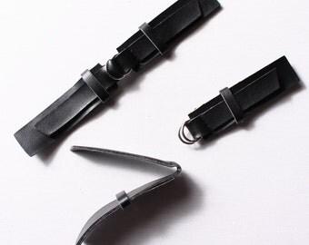 8 16cm, black polyurethane belt buckles (8499)
