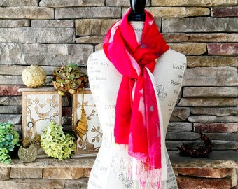 100% Cashmere Handmade Shawl - Roses are Red
