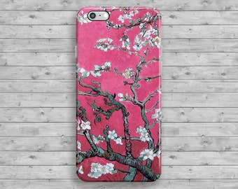 Pink Almond Blossom Van Gogh iPhone 6 Case, Floral iPhone 7 Case, iPhone 6S case, iPhone 6 Plus, iPhone 6S Plus, iPhone SE Case, 4 4S 5S 5C