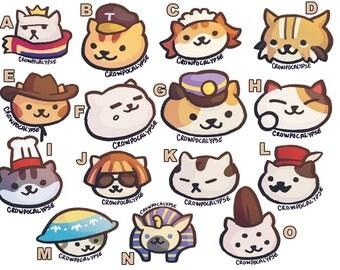 Neko Atsume Stickers Rare Cats