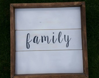 Rustic farmhouse inspired shiplap sign