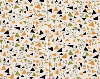 1 yd - Andover Fabrics - Outfoxed -Geometric Triangles