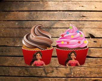 Instant Download Elena of Avalor Cupcake Wraps