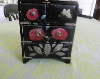 Hand Painted Miniature Jewelry Box