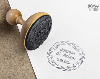 Personalized wedding wooden stamp 60mm