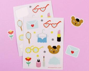 Sticker Sheet / Beary Cute