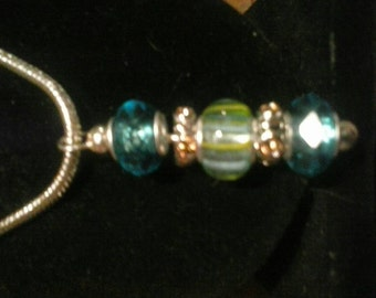 Blue and Green Mix and Mingle Necklace
