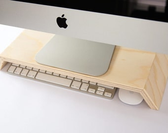 SALE!!!! Budget display / monitor stand for IMac, Keyboard and mouse storage opportunities. SALE!!!!