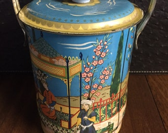 Retro Pop Top Tin Canister