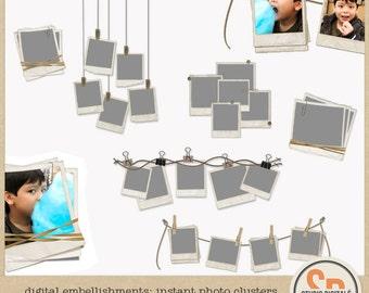 Digital Embellishments: Instant Photo Frame Clusters