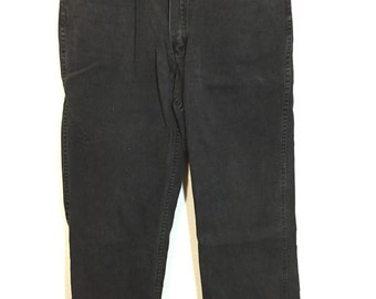 90's ben davis cotton black engineer pants union made in usa
